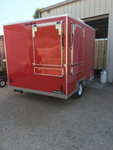 "7'9"" x 10' Red Trailer"